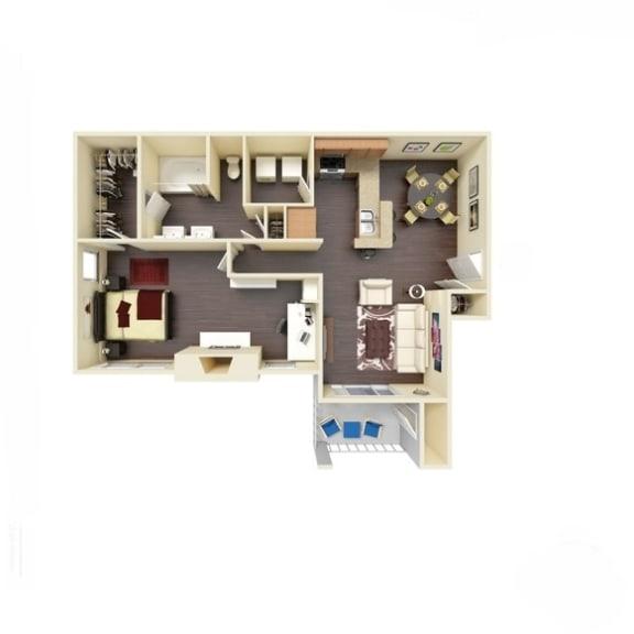 Floor Plan  1B_882 Floor Plan   River Stone Ranch