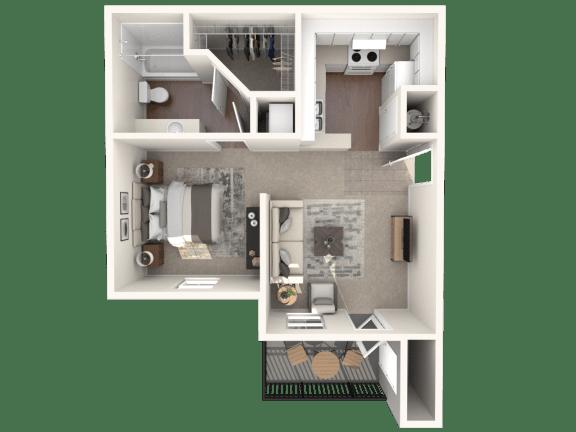 Floor Plan  Studio   Monterey Ranch