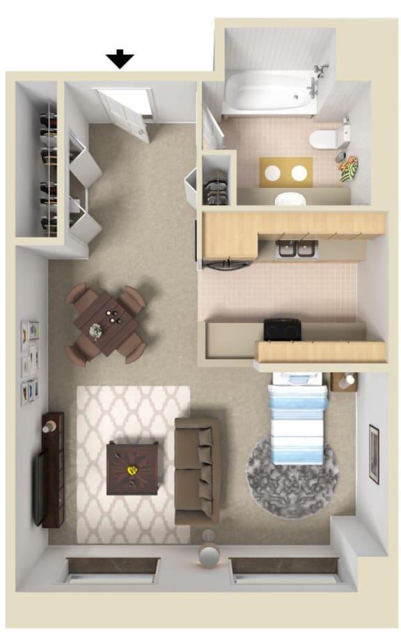 Floor Plan  The Elm   Bigelow Commons