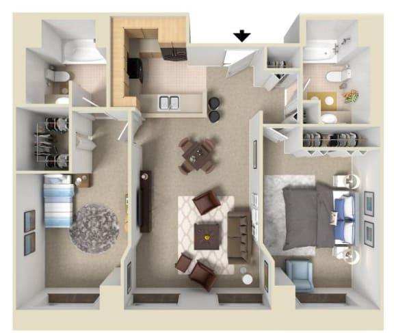 Floor Plan  The Molino | Bigelow Commons