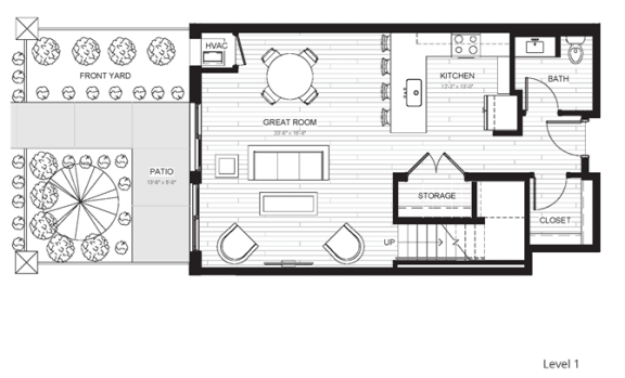 C3 - Two Bedroom & Two And A Half Bathroom Floor Plan At Boutique 28 Apartments In Minneapolis, MN