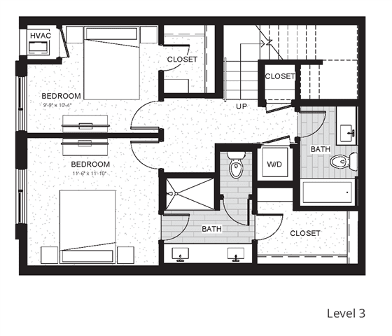 C5 - Two Bedroom & Two And A Half Bathroom Floor Plan At Boutique 28 Apartments In Minneapolis, MN