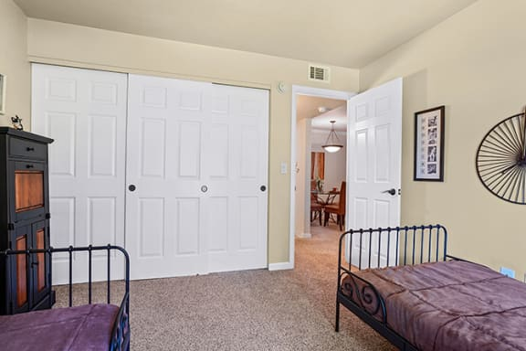 Small Bedroom With Expansive Window at Clayton Creek Apartments, Concord, 94521