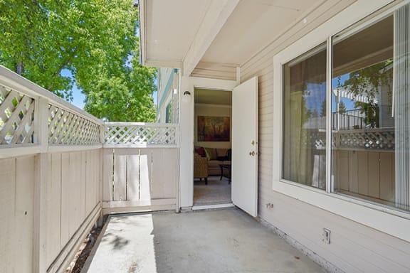 Independent Patio at Clayton Creek Apartments, California, 94521