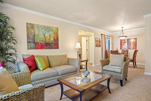 Modern Living Room at Clayton Creek Apartments, Concord, 94521