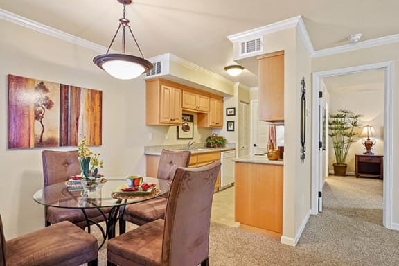 Well Equipped Kitchen And Dining at Clayton Creek Apartments, Concord, CA
