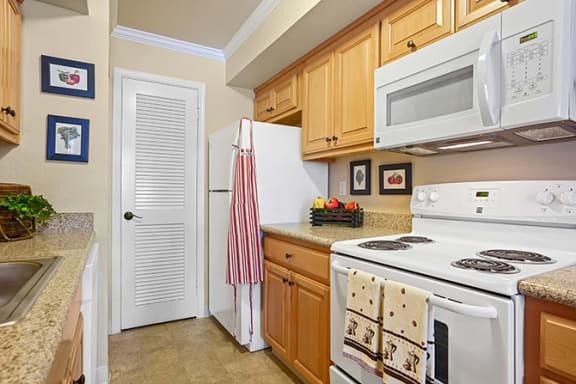 Efficient Appliances In Kitchen at Clayton Creek Apartments, California, 94521