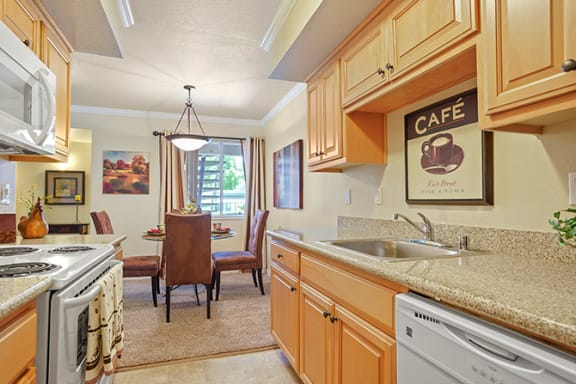 Well Equipped Kitchen And Dining at Clayton Creek Apartments, California