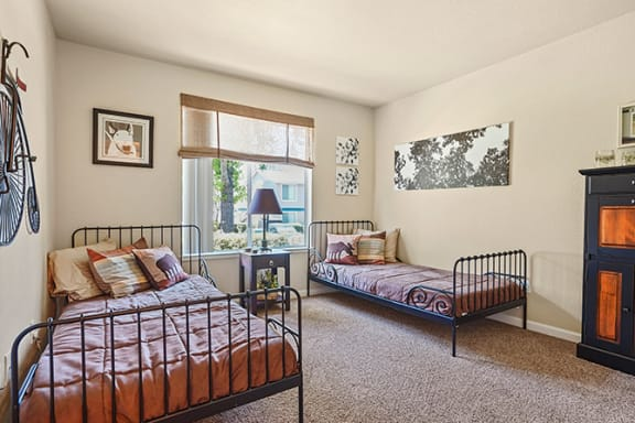 Shared Bedroom at Clayton Creek Apartments, Concord, California