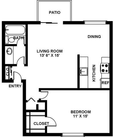 Floor Plan  2d layout at Fairmont Apartments, Pacifica, CA
