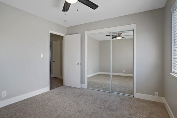Bedroom With Closet at Colonial Garden Apartments, San Mateo, CA, 94401