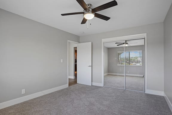 Ceiling Fan In Apartment at Colonial Garden Apartments, California