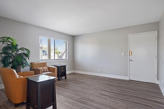 Modern Living Room at Colonial Garden Apartments, San Mateo, CA