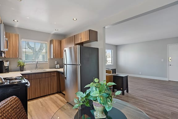 Dining And Kitchen View at Colonial Garden Apartments, California, 94401
