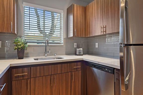 Modular Kitchen at Colonial Garden Apartments, San Mateo, California