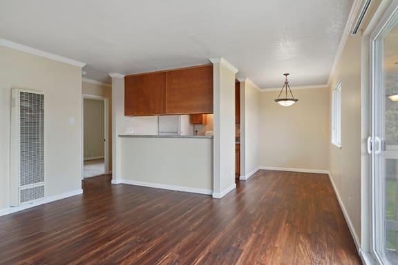 Wood Floor Dining Room at Fairmont Apartments, California