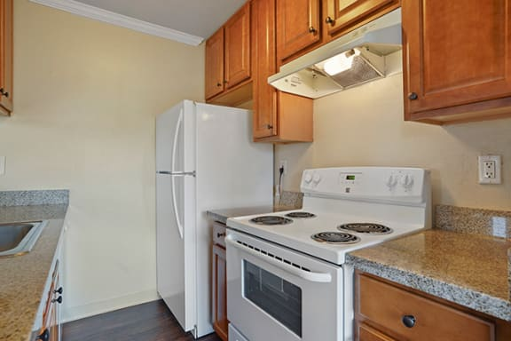 Fully Equipped Kitchen at Fairmont Apartments, Pacifica, CA