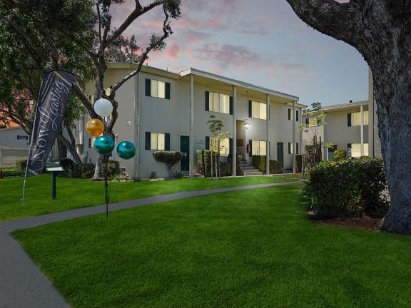 Lighting at night at Colonial Garden Apartments, San Mateo, CA, 94401