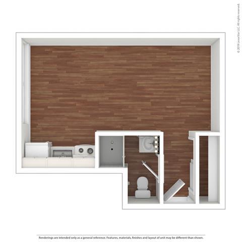 Floor Plan  Studio Floor Plan at Peninsula Pines Apartments, California, 94080