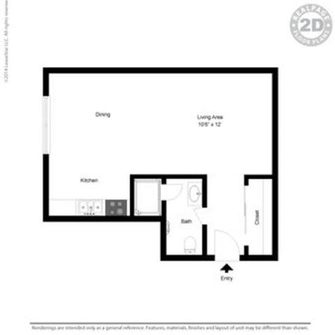 Studio 0 Bed 1 Bath Floor Plan at Peninsula Pines Apartments, South San Francisco, California