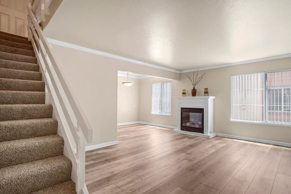 Living Room Remodel With Fireplace at Peninsula Pines Apartments, South San Francisco, California