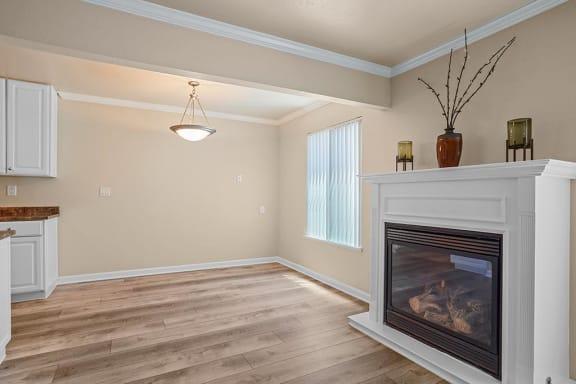 Fireplace Area at Peninsula Pines Apartments, South San Francisco, CA