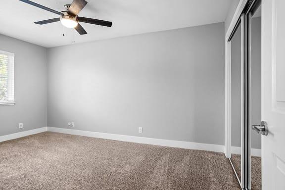 Carpeted Bedroom Area at Peninsula Pines Apartments, South San Francisco, CA, 94080