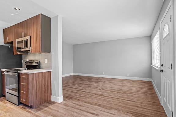 Wood Floor Dining Room at Peninsula Pines Apartments, California, 94080
