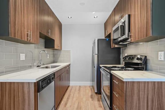Modular Kitchen at Peninsula Pines Apartments, South San Francisco