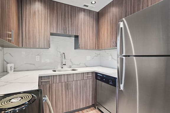 Refrigerator And Kitchen Appliances at Parkside Apartments, California, 95616