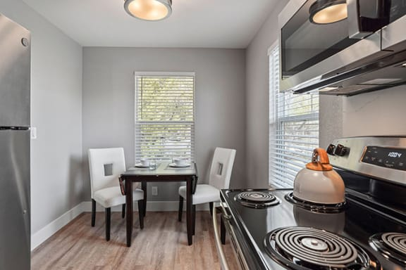 Dining Area View at Parkside Apartments, Davis, California