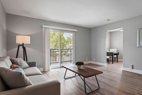 Living Room With Plenty Of Natural Light at Parkside Apartments, Davis, California