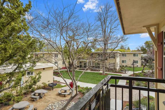 Balcony And Patio at Parkside Apartments, Davis, California