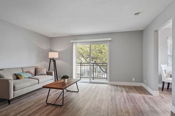 Spacious Living Room With Private Balcony at Parkside Apartments, California