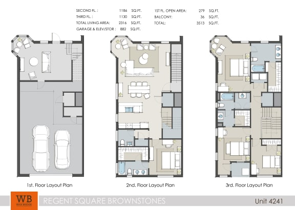 Floor Plan  4241 Floor Plan at Villas at Kings Harbor Apartments, TBD MANAGEMENT, Kingwood, TX, 77345
