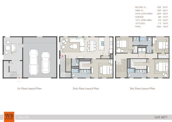 Floor Plan  4371 Floor Plan at Villas at Kings Harbor, Kingwood, Texas