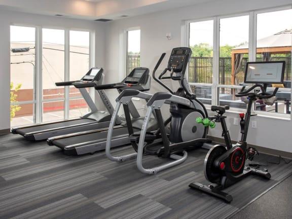 fitness room cardio machines