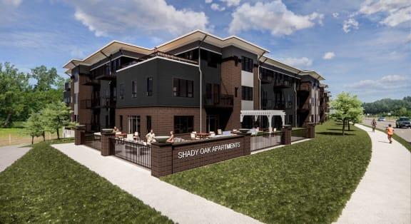 Independent Patio at Shady Oak Crossing Apartments, 4312 Shady Oak Rd, Minnetonka