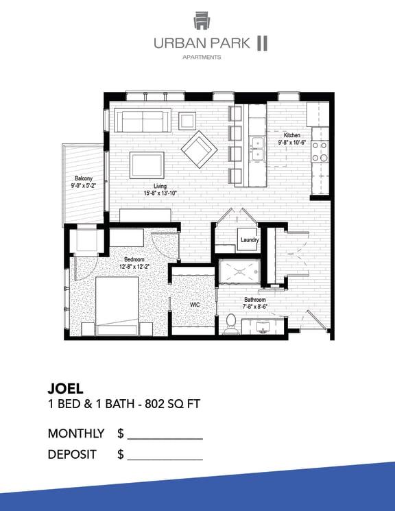 Floor Plan  1 bedroom floor plan drawing, joel