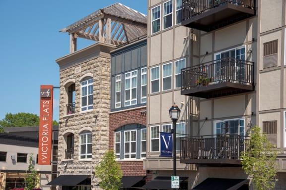 Victoria Flats exterior featuring sunny balconies, Victoria, MN 55386