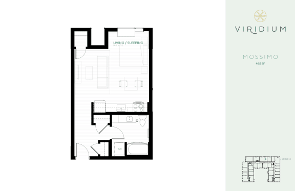 Floor Plan  studio floor plan mossimo at Viridium Apartments, Minneapolis, Minnesota