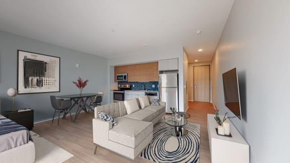 Living Room Come Kitchen View at Viridium, Minneapolis