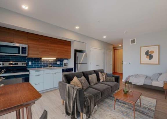 Large Studio Suite Floor Plan at Viridium, Minnesota, 55401