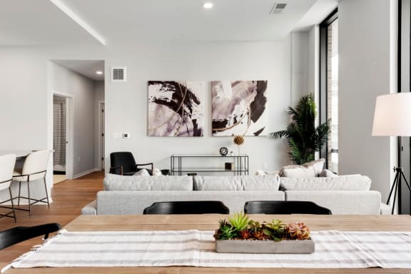 Modern Living Room at Viridium Apartments, Minneapolis, 55401