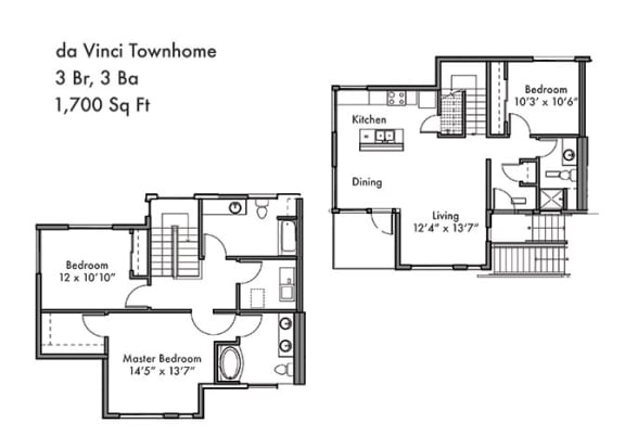 Floor Plan  3 Bed 3 Bath Floor Plan at Discovery West, Issaquah, Washington