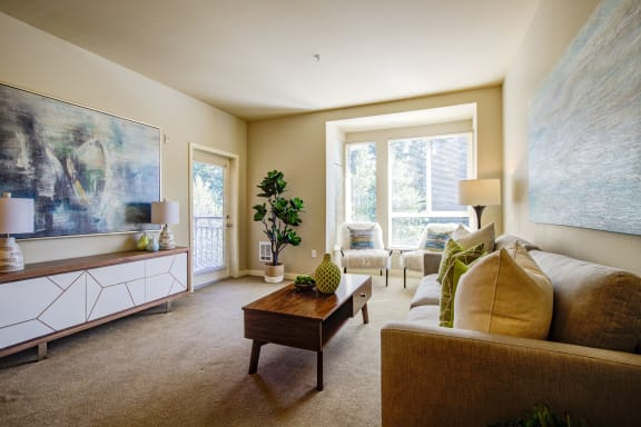 Spacious Living Room at at  Discovery Heights in Issaquah, WA 98029