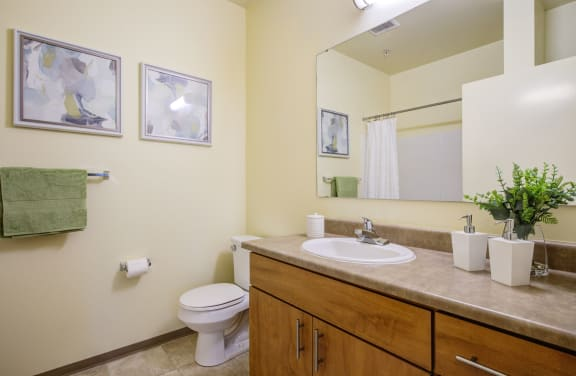 Spacious Bathroom at  Discovery Heights in Issaquah, WA 98029