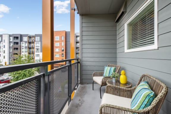private patio or balcony at Discovery West Apartments in  Issaquah, WA 98029