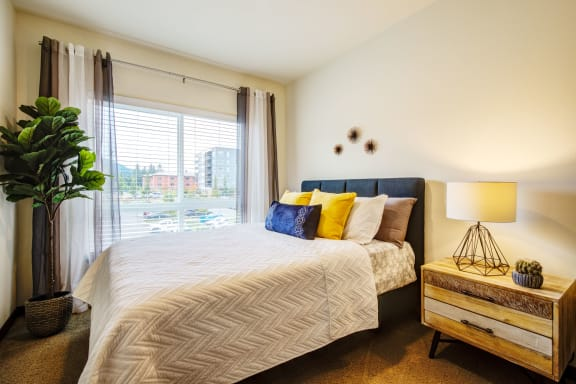 Bright bedroom at  Discovery Heights in Issaquah, WA 98029