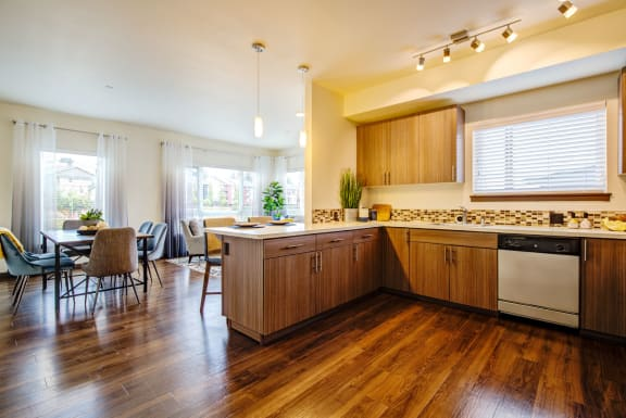 open concept kitchen at  Discovery Heights in Issaquah, WA 98029